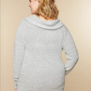 78f93965556ed Motherhood Maternity Sweaters - Plus size off the shoulder MATERNITY sweater